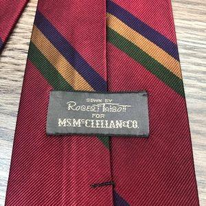 Robert Talbott Accessories - Robert Talbott Red, Gold, Navy & Green Stripe Tie